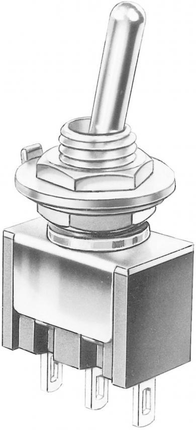 Întrerupător basculant Marquardt, miniatură, seria 9040.0101, 1 x ON/ON 30 V/DC 4 A