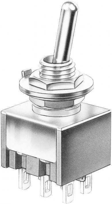 Întrerupător basculant Marquardt, miniatură, seria 9040.0201, 2 x ON/ON 30 V/DC 4 A