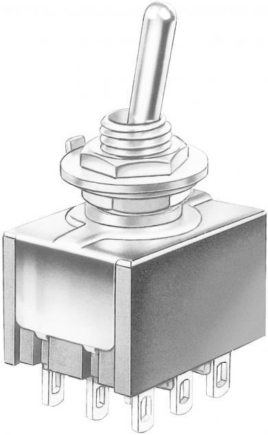 Întrerupător basculant Marquardt, miniatură, seria 9040.0301, 3 x ON/ON 30 V/DC 4 A