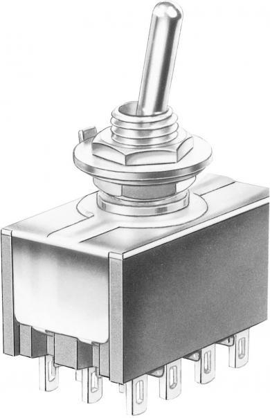 Întrerupător basculant Marquardt, miniatură, seria 9040.0401, 4 x ON/ON 30 V/DC 4 A