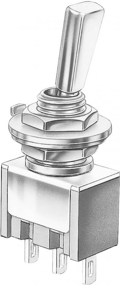 Întrerupător basculant Marquardt, miniatură, seria 9040.2101, 1 x ON/ON 30 V/DC 4 A