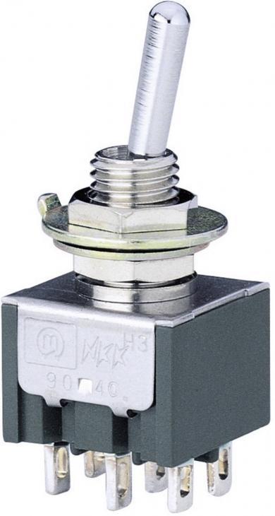 Întrerupător basculant Marquardt, miniatură, seria 9040.0401, 4 x ON/OFF/ON 30 V/DC 4 A