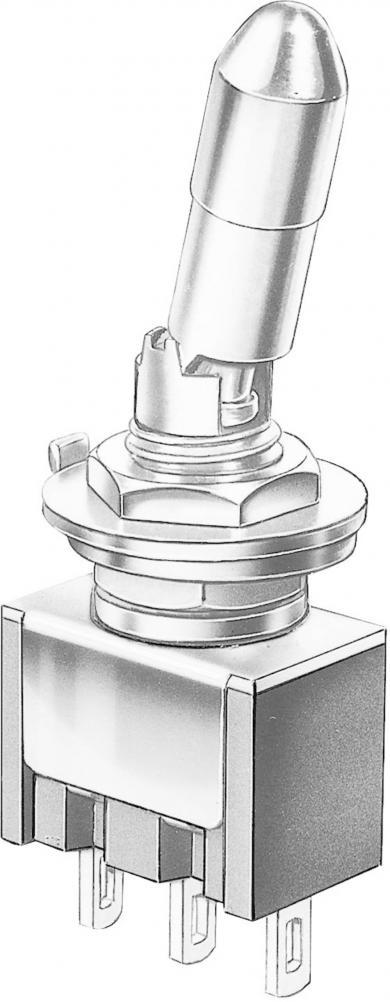 Întrerupător basculant Marquardt, miniatură, seria 9040.0102, 1 x ON/ON 30 V/DC 4 A