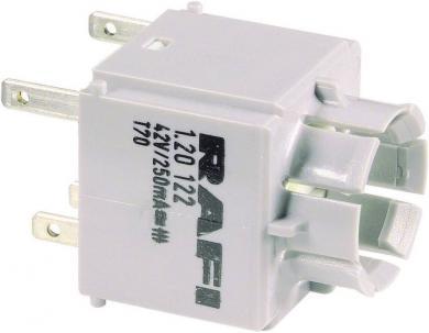 Element de contact universal, 1 NC, 1 NO, 250 V, Rafi 1.20123.021