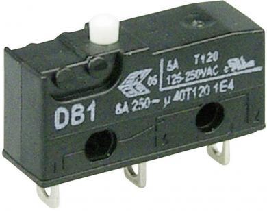 Întrerupător subminiatură DB1 Cherry, DB1C-A1AA, 250 V/AC, fără manetă, conexiune prin ochiuri de lipire, curent de comutare 6 A