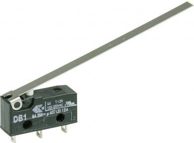 Întrerupător subminiatură DB1 Cherry, DB1C-A1LD, 250 V/AC, manetă lungă, conexiune prin ochiuri de lipire, curent de comutare 6 A