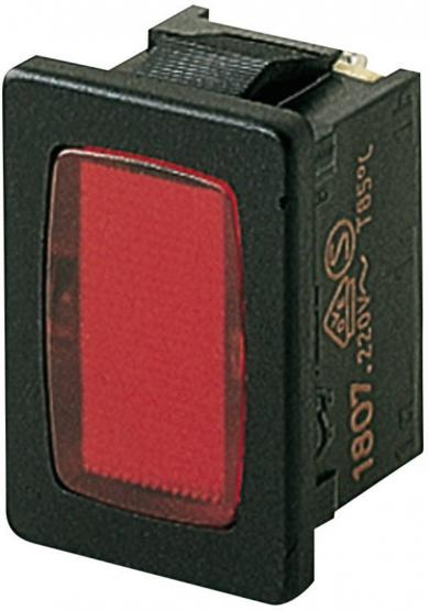 Lampă semnalizare Marquardt tip 1807.1102, roşu, 230 V/AC, conexiune prin conector plat 4,8 mm