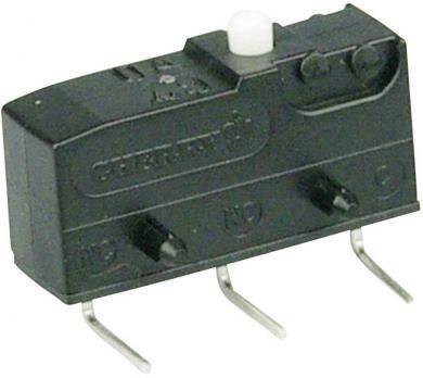 Întrerupător subminiatură DB1 Cherry, DB1C-D3AA, 250 V/AC, fără manetă, conexiune prin conexiuni pentru circuite imprimate 1,3 x 0,5 mm stanga, curent de comutare 6 A
