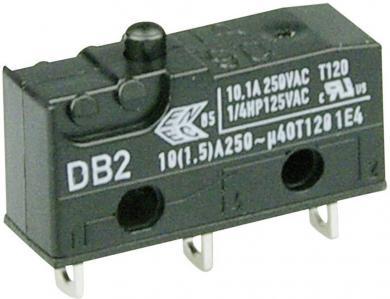 Întrerupător subminiatură DB2 Cherry, tip DB2C-A1AA, 250 V/AC, fără manetă, conexiune prin conexiuni pentru lipire