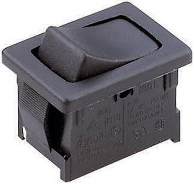 Întrerupător basculant Marquardt tip Rocker 1808.1103, 1 x ON/ON/OFF, 250 V/AC, 6 (4) A