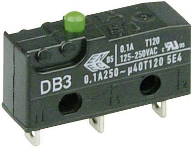 Întrerupător subminiatură DB3 Cherry, tip DB3C-A1AA, 250 V/AC, fără manetă, conexiune prin conexiuni pentru lipire