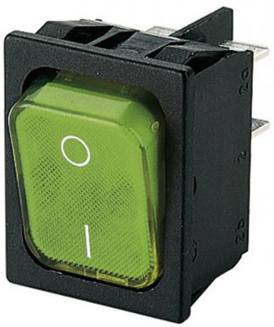 Întrerupător basculant Marquardt tip Rocker 1835.3105, 2 x OFF/ON, 250 V/AC, 6 (4) A