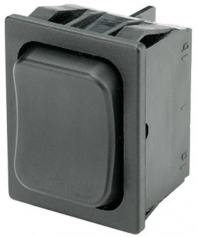 Întrerupător basculant Marquardt tip Rocker 1839.1402, 2 x (ON)/OFF/(ON), 250 V/AC, 6 (4) A