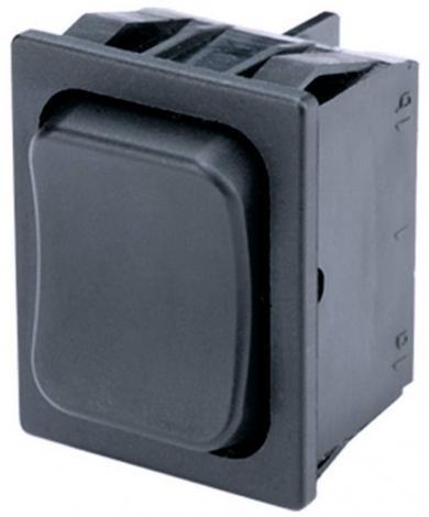 Întrerupător basculant Marquardt tip Rocker 1839.3402, 2 x (ON)/OFF/(ON), 250 V/AC, 6 (4) A