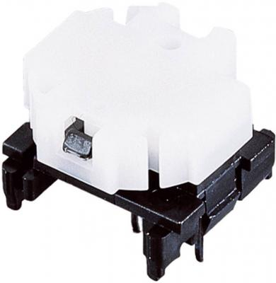 Corp de bază buton Marquardt 6425.1101, fără iluminare, 28 V, 100 mA, divizare ≥ 16 mm