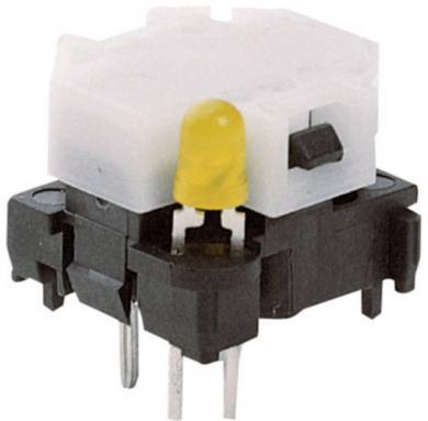 Corp de bază buton Marquardt 6425.5111, iluminare cu led roşu, 28 V, 100 mA, divizare 16/19 mm