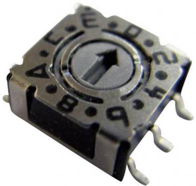 Întrerupător codificare P 36S 103, format compact, pini, SMT, 16 cifre hexazecimal