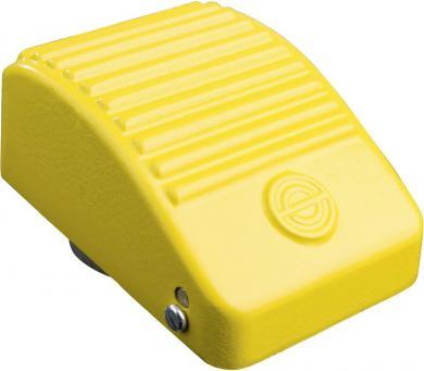 Întrerupător de picior KEF, carcasă metal uşor,  10 (6) A/250 V/AC/6 (3) A/440 V/AC, galben
