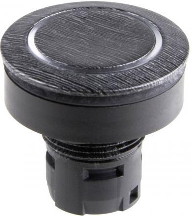 Buton de apăsare RONTRON, Ø buton 28 mm, cu exterior din aluminiu mat
