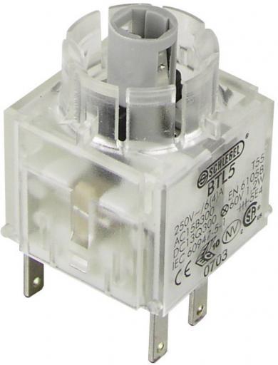 Contactor pentru RONTRON BTL5, buton, 1 NO + 1 NC, conexiune prin conector plat 2,8 x 0,8