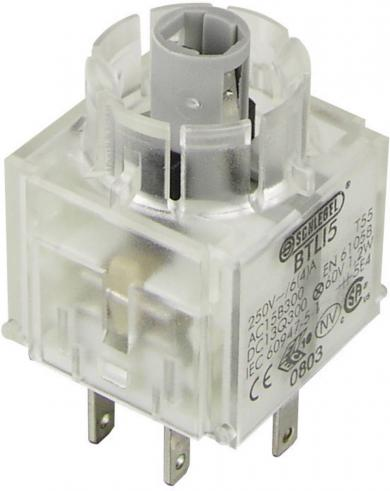 Contactor pentru RONTRON BTLI5, buton, 2 NC, conexiune prin conector plat 2,8 x 0,8