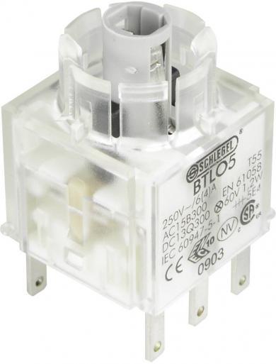 Contactor pentru RONTRON BTLO5, buton, 2 NO, conexiune prin conector plat 2,8 x 0,8