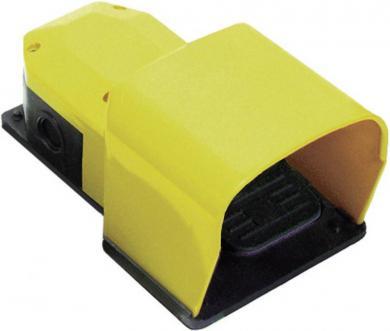 Întrerupător de picior PIZZATO PX 10111-M2, IP 65, cu pedală de protecţie, acţionare instantanee (1 NO / 1 NC)