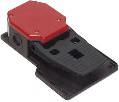 Întrerupător de picior PIZZATO PX 20301-M2, IP 65, fără pedală de protecţie, acţionare temporizată (1 NO / 1 NC)