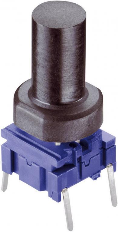Capac buton Multimec rotund 1S09-16.0, negru