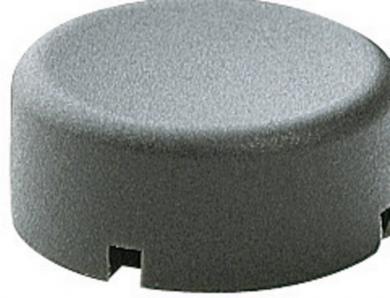 Capac buton Marquardt 840.000.021, capac buton rotund, culoare gri închis, 17 x 13.2 mm, adecvat pentru seria 6425 fără led