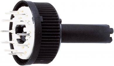 Comutator rotativ 3x4 de 6 mm