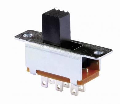Întrerupător glisant miniatură MFS 201N SW, 2 x ON/(ON), 30 V/DC, 350 mA