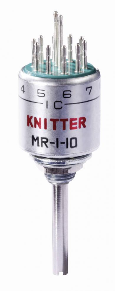 Întrerupător rotativ MR 1-10, 125 V/AC, 0.5 A, 10 poziţii de comutare, număr de contacte 1