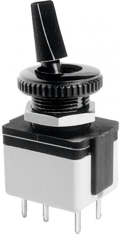 Întrerupător cu manetă izolată 4641A-22, 250 V/AC, 3 A, 2 x ON/OFF