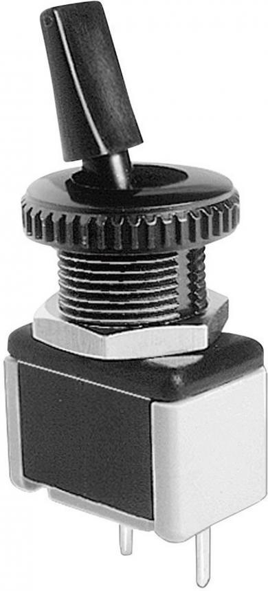 Întrerupător cu manetă izolată 4631A-22, 250 V/AC, 3 A, 1 x ON/OFF