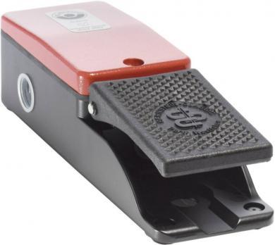 Întrerupător de picior F1-U1Z, 240 V / 10A, IP 65, 1 pedală, 1 NO, 1 NC, acţionare temporizată