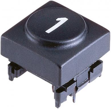 Capac buton Marquardt 826.006.011, capac buton 6, culoare antracit, 15.5 x 15.5 mm, adecvat pentru seria 6425 fără led