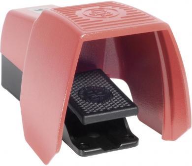 Întrerupător de picior F1-U1Z UN, 240 V / 10A, IP 65, 1 pedală cu capac de protecţie, 1 NO, 1 NC, acţionare temporizată