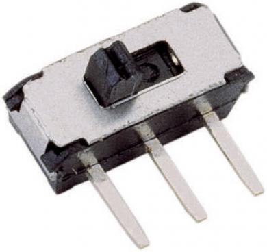Mini-întrerupător glisant 1 x ON/On max. 20 V max. 0.1 A