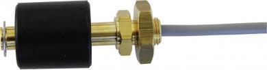 Întrerupător cu flotor tip R1/8-MO/S-L43-BU23-1mPVC, contact NC, funcţie inversare, IP68, 230 V/AC / 10 W, material alamă, Ø 23 mm