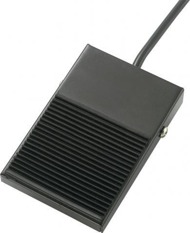 Întrerupător de picior FS-0, 250 V/AC / 10 A, conexiune prin cablu 30 cm, 102 x 66 x 30 mm