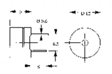 Traductor de sunet piezoelectric AL-60P01, fără generator, 75 dB, 2400 Hz, consum curent < 70 mA, 1 - 2 V/DC