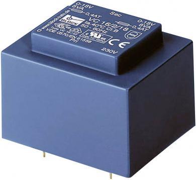 Transformator PCB EI 48/16,8, 12 V, 833 mA, 10 VA, Block VC 10/1/12