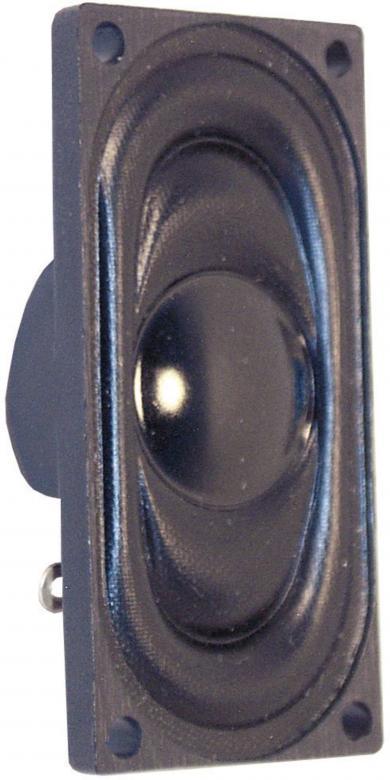 Difuzor miniatură dreptunghiular Visaton, 76 dB, 8 Ω, 1 W, 600 Hz