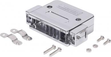 Carcasă plastic metalizat D-SUB, 15 pini, 180 °, argintie, BKL Electronic 10120077