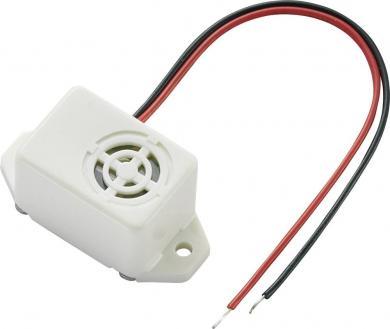 Buzer miniatură tip KPMB-G2206L-K6405, 75 dB, 30 mA, 4-8 V/DC, decupaj rotund, culoare natur