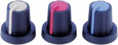 Buton soft-touch PB Fastener 3030407, Ø ax 6 mm, cu indicator şi capac integrate