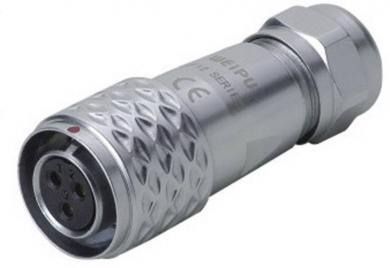 Conector mamă push-pull, 6 pini, 5 A, IP67, Weipu SF1210/S6 II
