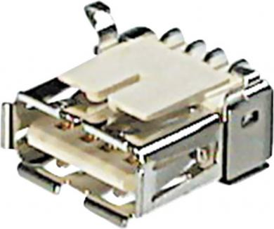 Conector soclu USB A 2.0, versiune SMD, A-USB A/SMT Assmann