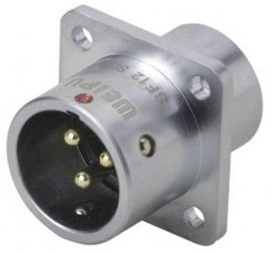 Conector tată push-pull, 6 pini, 5 A, IP67, montaj încastrat, Weipu SF1213/P6